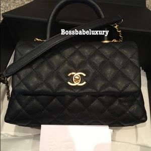 Brand new Chanel coco handle small flap bag